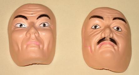 Captain Action James Bond Secret Agent action figure doll spy masks - 2, NM condition!
