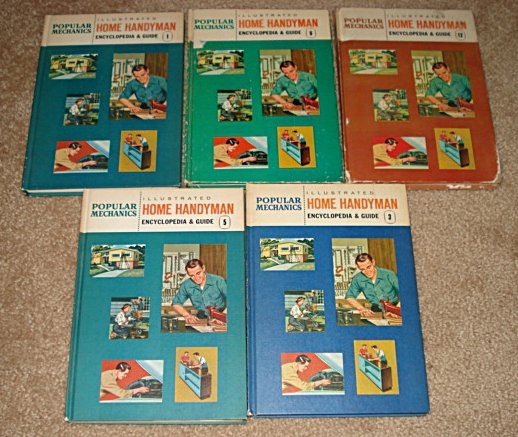 Popular Science & Mechanics Do it Yourself & Home Handyman books 1956 1961 plumbing electrical etc