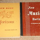 New Music Horizons instructional songbooks - Volume #6 music Teachers Editions, 1949, 1953