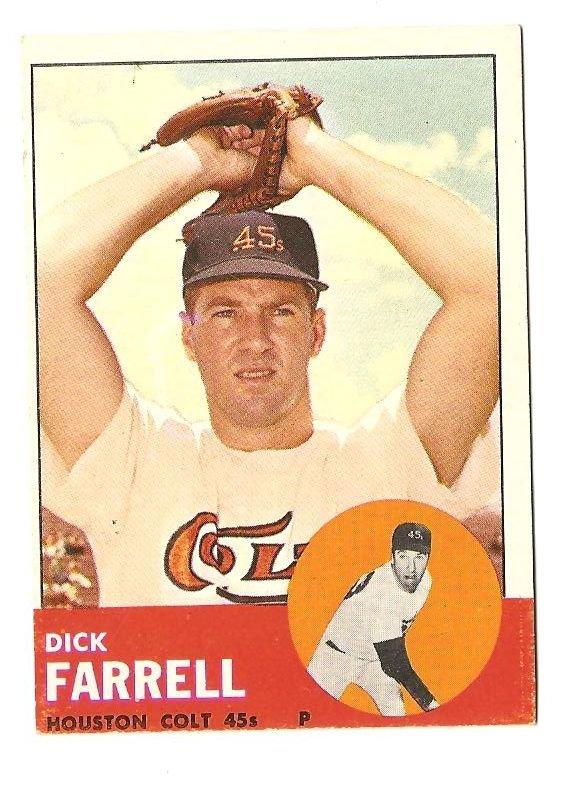 1963 Topps baseball card #277 Dick Farrell VG/EX Houston Colt 45's