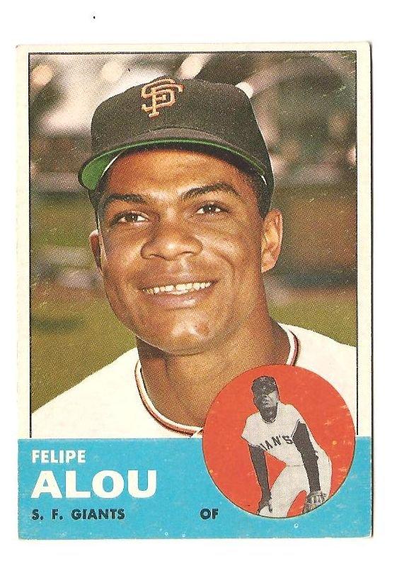 1963 Topps baseball card #270 Felipe Alou VG San Francisco Giants
