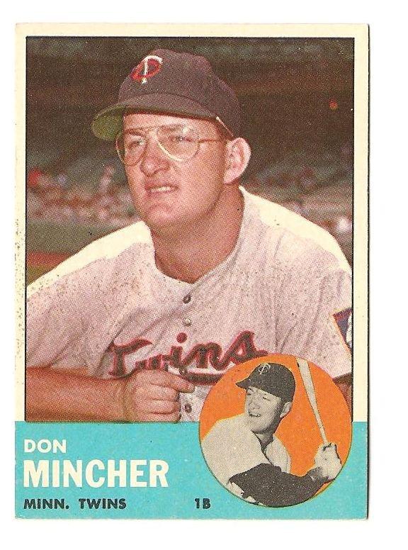1963 Topps baseball card #269 Don Mincher EX Minnesota twins