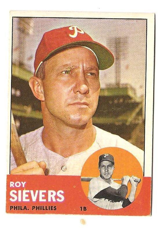 1963 Topps baseball card #283 Roy Sievers VG Philadelphia Phillies
