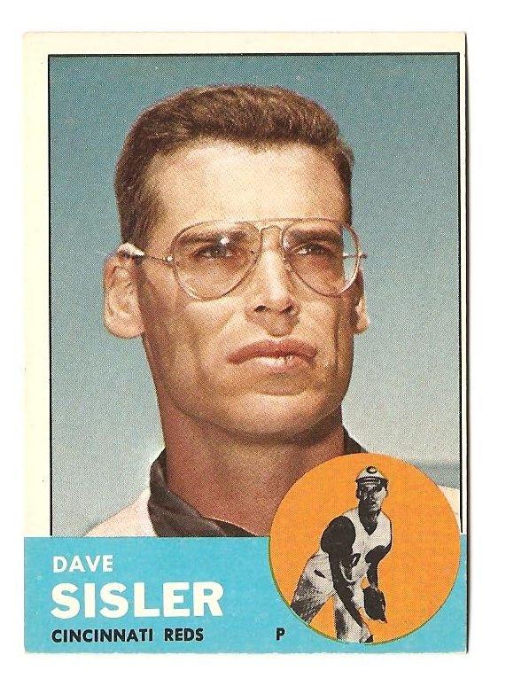 1963 Topps baseball card #284 Dave Sisler NM Cincinnati Reds