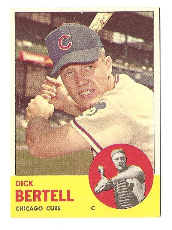 1963 Topps baseball card #287 Dick Bertell NM Chicago Cubs