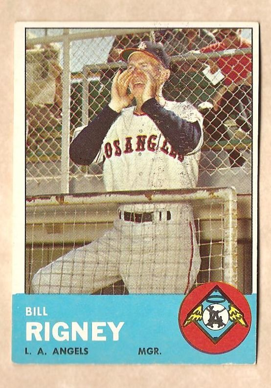 1963 Topps baseball card #294 Bill Rigney VG/EX Los Angeles Angels