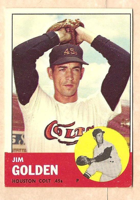 1963 Topps baseball card #297 Jim Golden VG/EX Houston Colt 45's