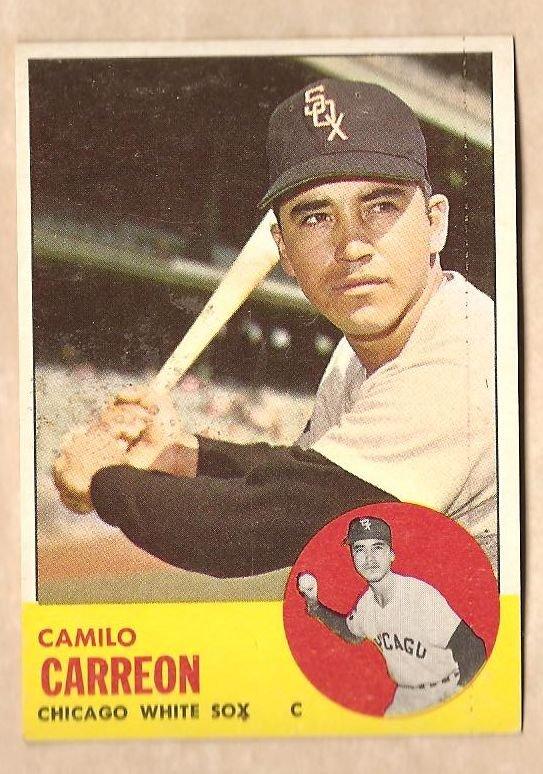 1963 Topps baseball card #308 Camilo Carreon EX/NM Chicago White Sox
