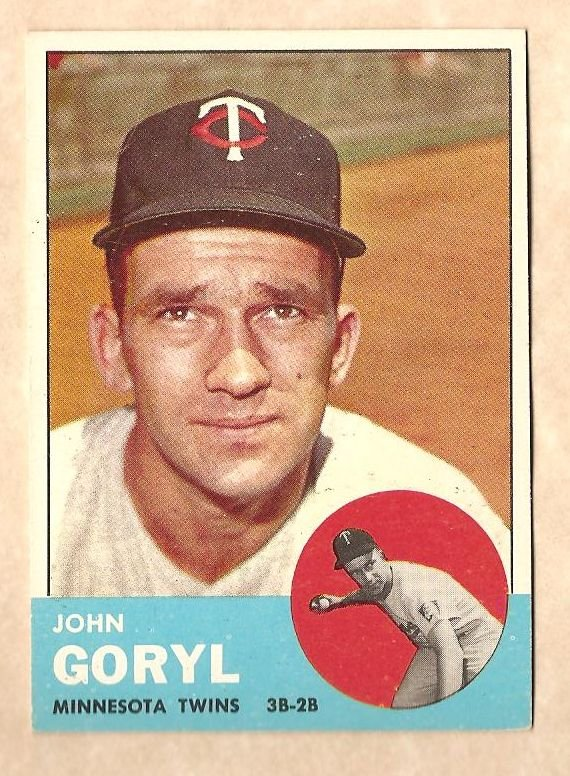1963 Topps baseball card #314 John Goryl NM Minnesota twins