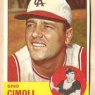 1963 Topps baseball card #321 Gino Cimoli VG Kansas City A's Athletics