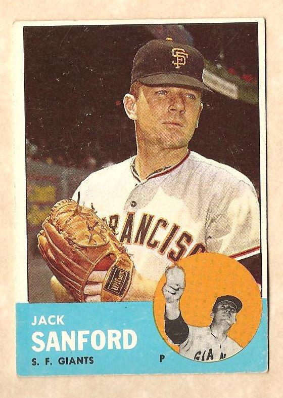 1963 Topps baseball card #325 Jack Sanford VG San Francisco Giants