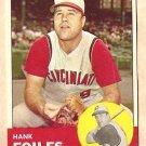 1963 Topps baseball card #326 Hank Foiles EX Cincinnati Reds