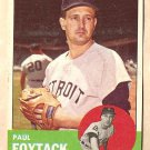 1963 Topps baseball card #327 Paul Foytack EX Detroit Tigers