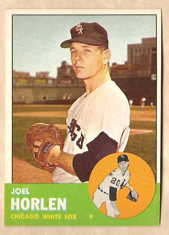 1963 Topps baseball card #332 Joel Horlen NM Chicago White Sox