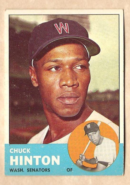 1963 Topps baseball card #330 Chuck Hinton VG Washington Senators