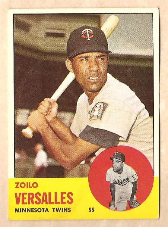 1963 Topps baseball card #349 Zoilo Versalles VG/EX Minnesota Twins