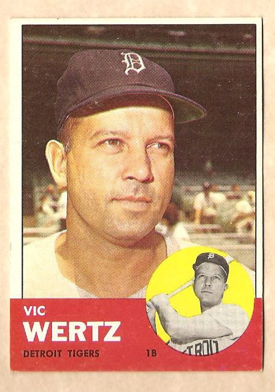 1963 Topps baseball card #348 Vic Wertz EX Detroit Tigers