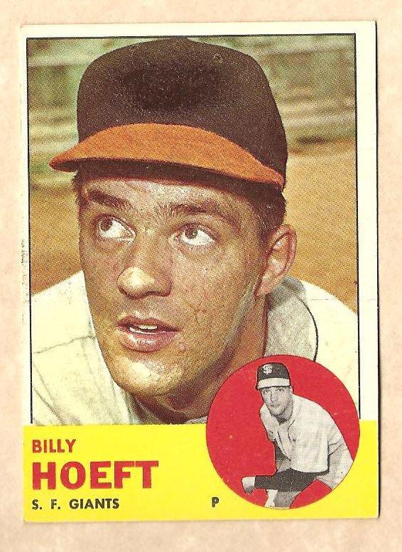 1963 Topps baseball card #346 Billy Hoeft EX San Francisco Giants