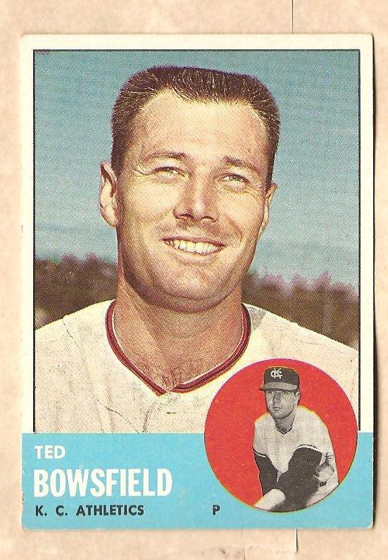 1963 Topps baseball card #339 Ted Bowsfield VG/EX Kansas City A's Athletics