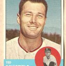 1963 Topps baseball card #339 Ted Bowsfield VG/EX Kansas City A's Athletics