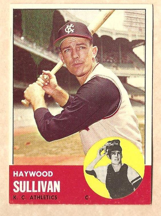 1963 Topps baseball card #359 Haywood Sullivan EX+ Kansas City A's Athletics