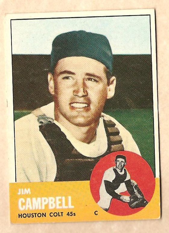 1963 Topps baseball card #373 Jim Campbell Vg Houston Colt 45's