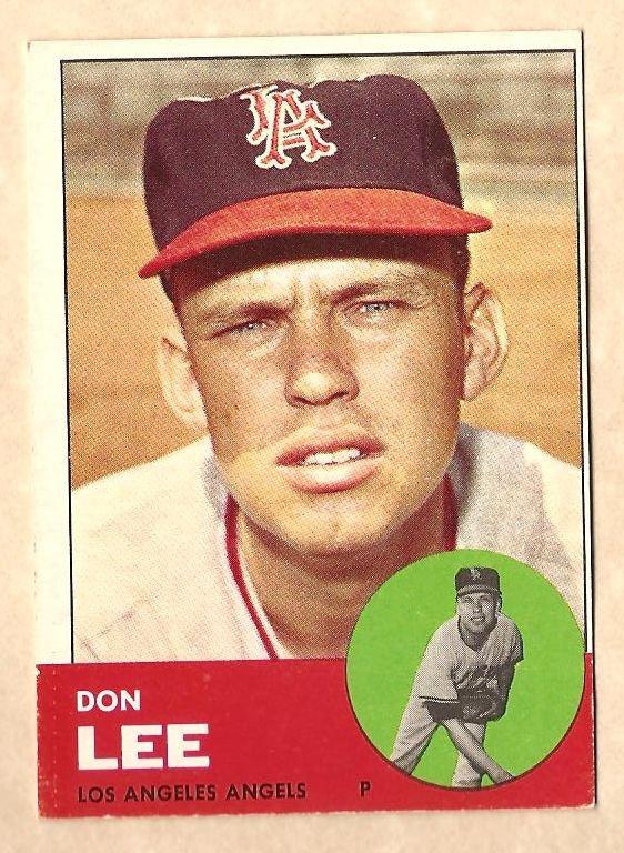 1963 Topps baseball card #372 Don Lee VG/Ex Los Angeles Angels