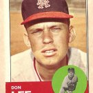 1963 Topps baseball card #372 Don Lee VG/Ex Los Angeles Angels
