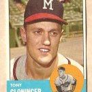 1963 Topps baseball card #367 Tony Cloninger VG Milwaukee Braves