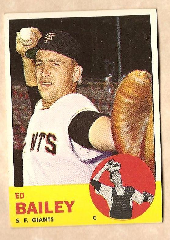 1963 Topps baseball card #368 Ed Bailey VG (rubber band mark) San Francisco Giants