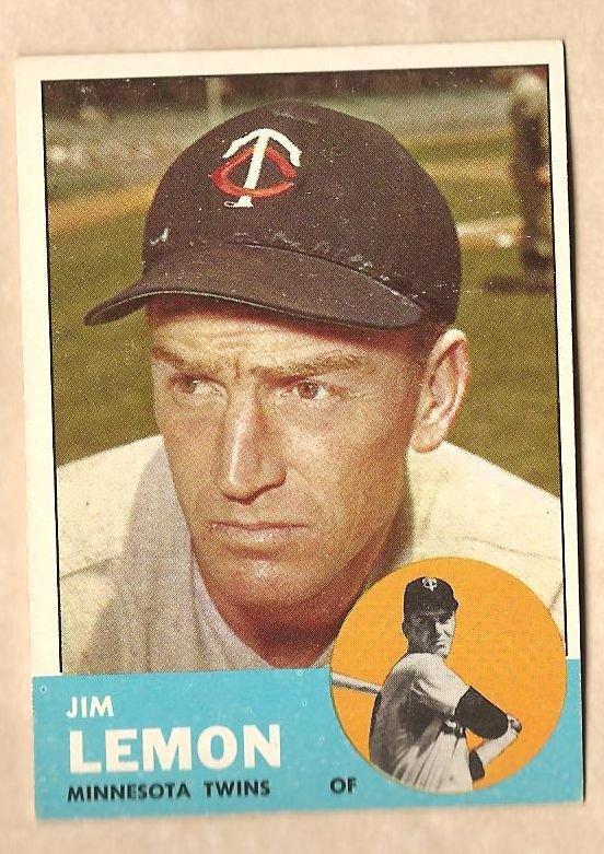 1963 Topps baseball card #369 Jim Lemon NM Minnesota Twins