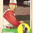 1963 Topps baseball card #378 Bill Henry VG/EX Cincinnati Reds