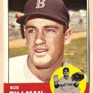 1963 Topps baseball card #384 Bob Tillman VG/EX Boston Red Sox