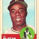 1963 Topps baseball card #387 Al McBean EX Pittsburgh Pirates