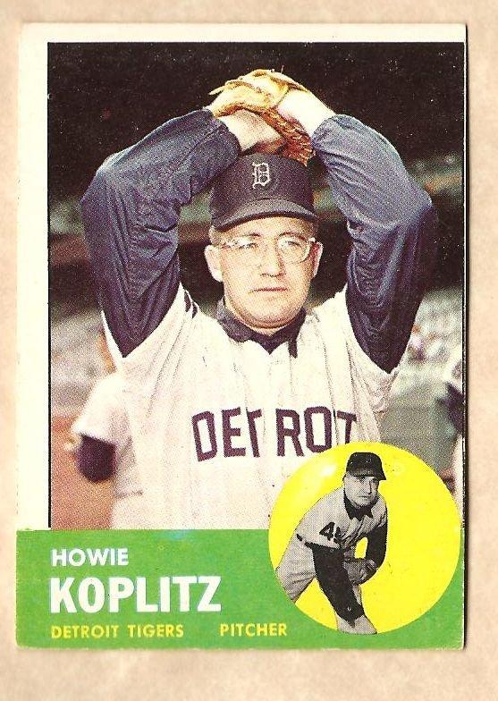 1963 Topps baseball card #406 Howie Koplitz VG Detroit Tigers