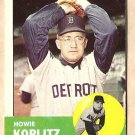 1963 Topps baseball card #406 Howie Koplitz VG Detroit Tigers