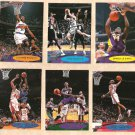 2000 - 2001 Topps Stadium Club promo promotional basketball 6 card set NM/M Shaquille O'Neal