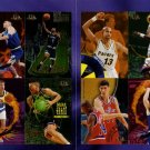 1995 - 1996 Skybox Premium Series 1 promo promotional basketball 8 card double fold out sheet