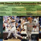 1998 Fleer Diamond Skills Commemorative (Fleer Tradition) uncut 8 baseball card sheet Derek Jeter