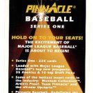 1995 Pinnacle promo promotional baseball cover card - NM/M