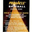 1995 Pinnacle promo promotional baseball cover card - NM/M