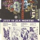 DC Comics JLA (Justice league of America) promo promotional checklist folder, 1997