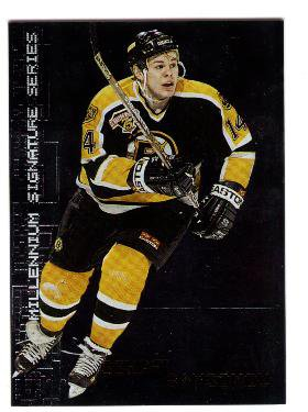 1999/00 In The Game Millennium Signature Series promo promotional hockey card #2 Sergei Samsonov