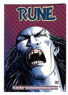 1993 Skybox Promo Promotional Card Rune Ultraverse Nm M