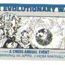 Marvel Comics Evolutionary War checklist card, NM/M 1988