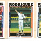 2005 Topps promo promotional baseball card set of 3 Ivan & Alex Rodriguez Arod Jim Thorne