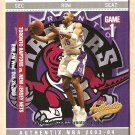 2003 - 04 Fleer Authentix promo promotional basketball card Vince Carter NM/M