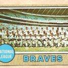 1968 Topps baseball card #221 Atlanta Braves Team Card EX