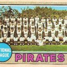 1968 Topps baseball card #308 Pittsburgh Pirates Team Card VG/EX miscut
