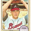 1968 Topps baseball card #257 Phil Niekro Atlanta Braves EX+